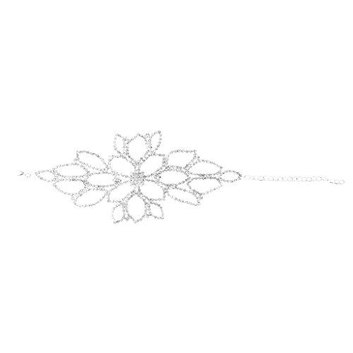 MagiDeal Hochzeit Braut Strass Oberarmkette Armkette Oberarm Arm Kette Schmuck Festival Geschenk Elegant Blume