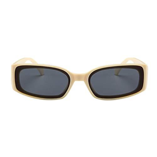 fazry Herren Damen Einfach Mode Jahrgang Quadrat Gespiegelt Polarisiert Brille Brillen Sonnenbrille(Beige)