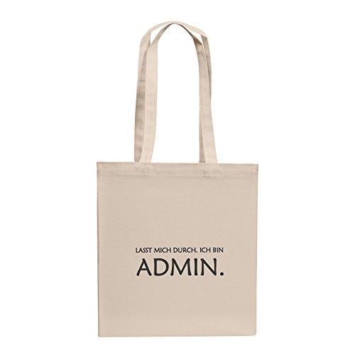 durch. Ich bin Admin - Stoffbeutel, natur (Kostüm Box Größentabelle)