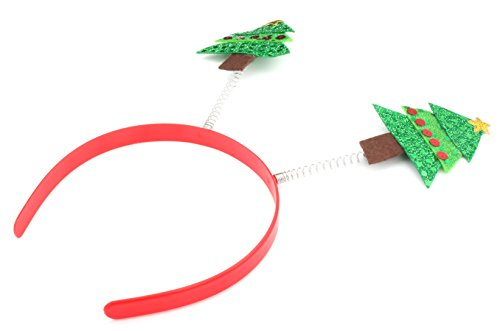 Zest Felt Christmas Tree Deely Bopper Alice Band Hair Accessory Green by Zest