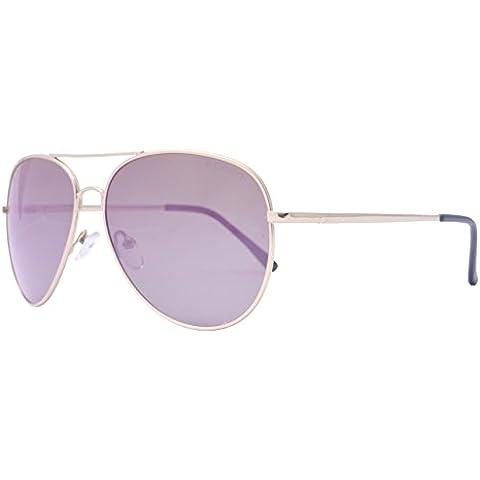 OceanGlasses - Banila aviator - gafas de sol metálicas - Montura : Dorada - Lentes : Rosas (18110.12)