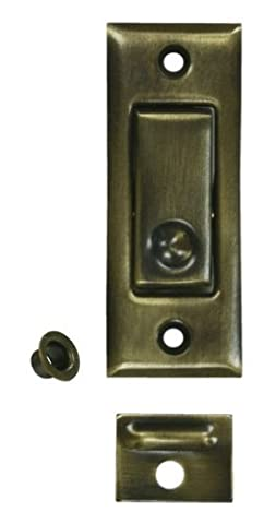 Deltana PDB42 3-1/16 Solid Brass Pocket Door Jamb Bolt Polished Chrome by Deltana