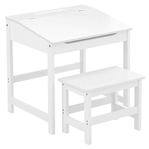 Premier Housewares Children's Desk and Stool Set - White