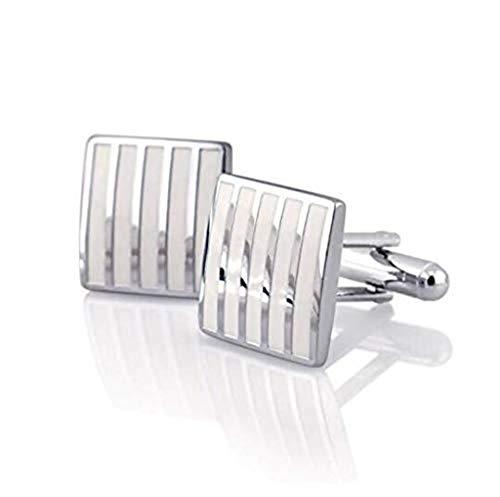Preisvergleich Produktbild rxbc2011 Herren Legierung Stripe Manschettenknöpfe für Anzug Hochzeit Hemd Business Shirt