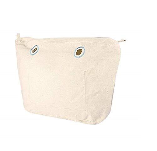 O bag mini, Borsa interna in tela per borsa O, Naturale, 29x25x9 cm