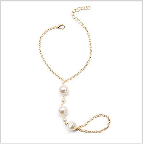 Zmnbaa Schmuck Vintage Style Pearl Bracelet Damen-Pony-Armband -