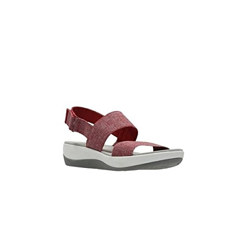 clarks-arla-jacory-textile-sandals-in-red-white-standard-fit-size-4