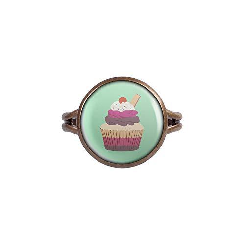 v Cup-Cake Kuchen Kirsche Waffel Bronze 14mm ()