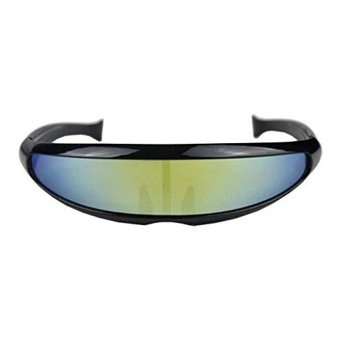 Honestyi Frauen Mann im Freien Fishtail Uni lens Sonnenbrillen Reiten Radfahren Brillen Eyewear X 001 Männer und Frauen tragen eine Sonnenbrille mit Fischschwanz Sandsäcken Mountainbike Reitbrille