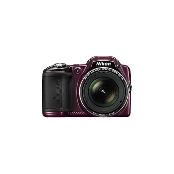 Nikon Coolpix L830 16 MP Point and Shoot Camera (Plum) with 34x Optical Zoom, Memory Card and Camera Case