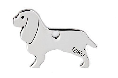 CAVALIER KING CHARLES SPANIEL Edelstahl Hundemarke - Schlüsselanhänger - Taschenanhänger - Anhänger für Halsband - Tier-Anhänger - Halsbandanhänger - Hunde-Marke 043CA -