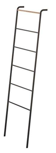 Gerson Escalera toallero, Metal, Negro, 45x 24x 160cm