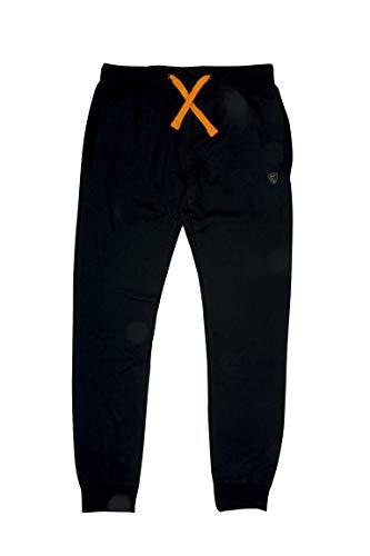 Fox Black Orange Lightweight Jogger - Angelhose, Anglerhose, Hose zum Angeln, Jogginghose, Größe:S
