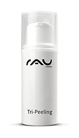 RAU Tri-Peeling 5 ml - Fruit Acid and Enzyme Face Peel- Deeply Cleansing & Anti-Ageing Exfoliant - with Fruit Acids, Papaya Enzymes & White Tea - Gentle, Highly-Effective Scrub - also for sensitive and couperose skin - Mini Travel Size