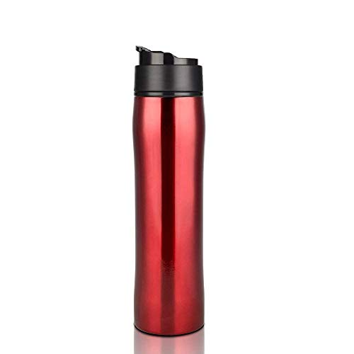 EgBert 350Ml Brbhom Portable French Press Mug Coffee Maker Stainless Double Wall Tumbler for Camping Hot and Cold Brewer Vacuum Bottle -