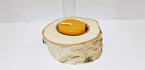 Teelichthalter,Birkenstamm