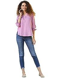 Top T E Bluse Shirt it 42 Camicie Amazon Camicia Lino z0qHw