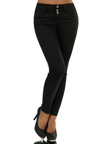 N280 Damen Jeans Hose Corsage Damenjeans High Waist Röhrenjeans Hochbund, Farben:Weiß;Größen:34 (XS)