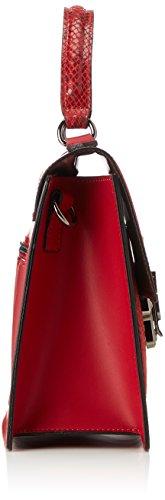 Chicca Borse Damen 8835 Henkeltasche, 28x22x11 cm Rosso (Rosso)