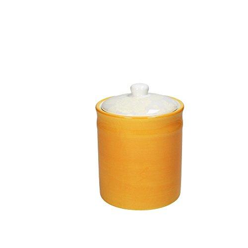 Vorratsdose/Kaffeedose TAG, sonnenblumengelb, 1200 ml. Volumen, 18 cm hoch, aus Keramik von Tognana