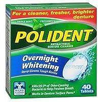 Polident Overnight Whitening Tablets - 40 Ea