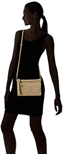 Chicca Borse Damen 1512 Schultertasche, 24x17x4 cm Beige (Taupe)