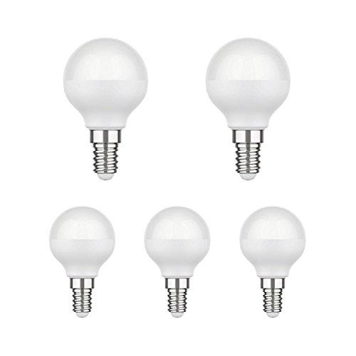 parlat E14 LED Lampe G45 4,6W =35W 350lm 130° warm-weiß, 5 STK. -