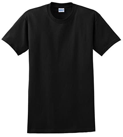 Gildan Mens Ultra Cotton Short Sleeve T-Shirt (4XL) (Black)