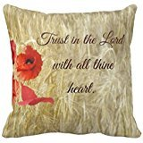 Coleman shop Trust in the Lord Bible Pillowcase 18 X 18 Inch Cotton Linen Cotton Throw Zippered Pillow