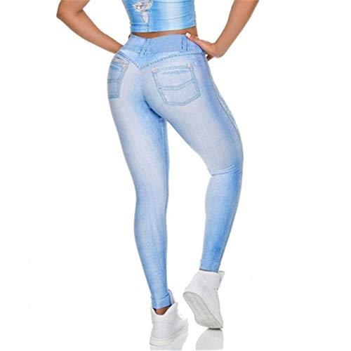 MAIMOMO Fitness-Hosen Für Damen Fitness-Hosen Für Damen Bedruckte Jeans-Leggings Mit Hohem Bund