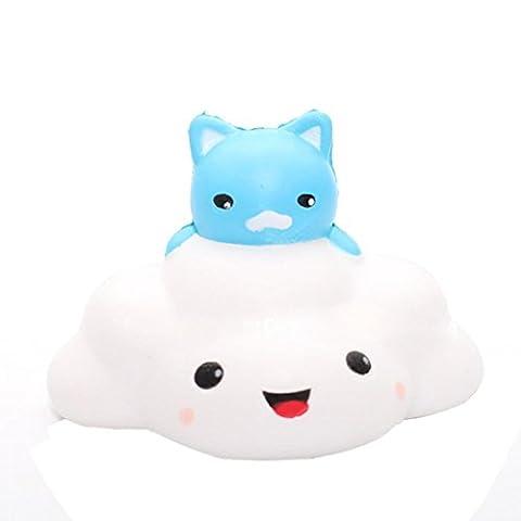 Omiky® Katze wolken Squishy langsam steigende Telefon Strap Kind Spaß Spielzeug Squeeze weichen Brot Kuchen