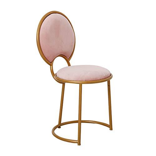 Sedia da pranzo/poltroncina / seggiolino da trucco/panca imbottita, arte in ferro/tessuto in velluto/imbottito, per spogliatoio/soggiorno / camera da letto/caffè, 2 colori