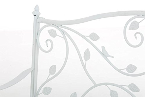 CLP Gartenbank MAGDA im Landhausstil, Eisen lackiert, 106 x 52 cm Weiß - 4
