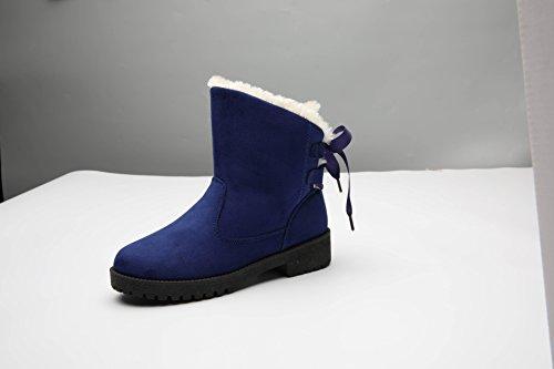 Snow Boots di grandi dimensioni più cotone inverno caldo cashmere scarpe antiscivolo. blue