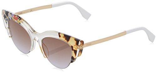 Fendi ff 0178/s lw tkw 50, occhiali da sole donna, viola (hnyvltptt gd/brownviolet ds)