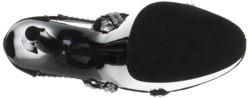 Pleaser Damen Adore-798 Plateau Schwarz (Schwarz (Blk Faux Leather/Blk))