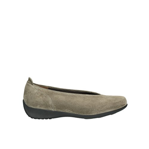 Wolky  BALLET, Mocassins pour femme 415 taupe suede