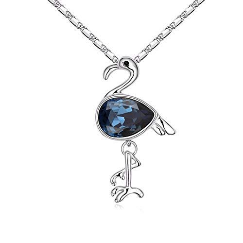 Xin Pang Gioielli In Acciaio Inossidabile Collana Pendente Pendente A Forma Di Collana A Pendente Con Pendente In Cristallo Blu