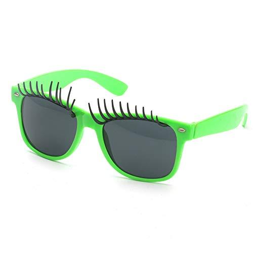 Große Augen Wimpern Fanci-Frame Erwachsenen Kinder Party Sonnenbrille Perfekte Party Favor Brille Party Zubehör (Farbe : Grün)