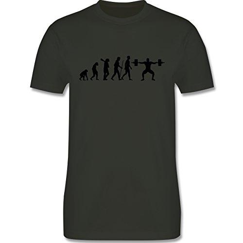 Evolution - Gewichtheber Evolution - Herren Premium T-Shirt Army Grün