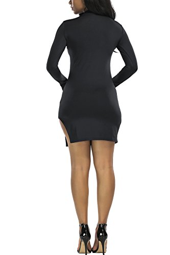YACUN Le Donne Bodycon Mini Club Matita Lavoro Vestito Da Cocktail Black