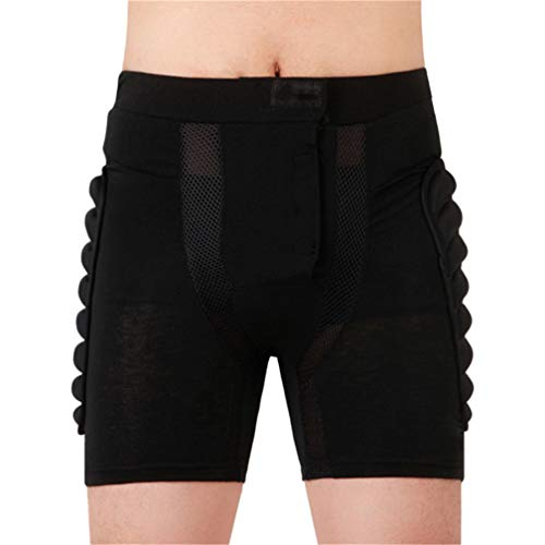 Dearlamp Ski Skate Snowboard Skiing 3D Padded Short, Roller Padded Protection Gear Racing Body Shorts M