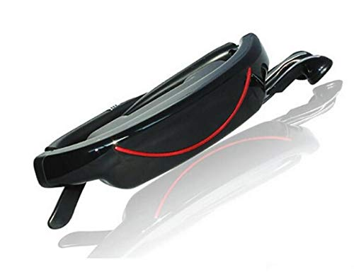 CTO Intelligente Brille 72 Zoll Virtuelle Breitbild-Videobrille Tragbare 3D-Brille Privates Theater Bluetooth 4.0 Intelligenter Mediaplayer [Energieklasse A],A,Brille