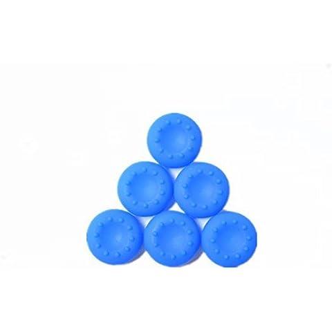 6PCS 3 pares de caso de silicona para controlador PS3 Xbox one Xbox 360 Thumbstick azul agarre