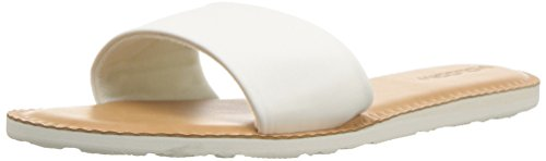 Volcom Women's Simple Synthetic Leather Strap Slide Sandal