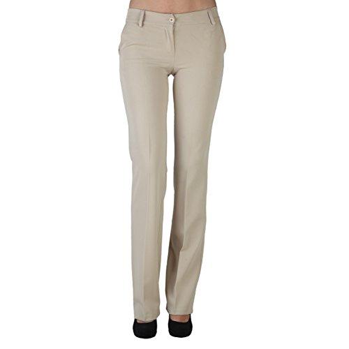Extyn PA89BEIGE pantaloni, pantacalze, pantaloni al ginocchio, business pantaloni, beige, IT44/DE38