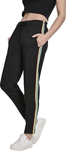 Urban Classics Damen Shorts Ladies Multicolor Side Taped Track Pants Shorts, Schwarz, Größe: S -