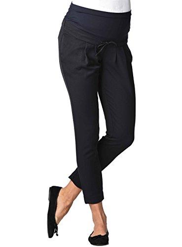 Christoff Damen Umstandsmode Hose 579/50/7 Loose/Relaxed Fit (weites Bein) Hoher Bund (44, schwarz (Black))