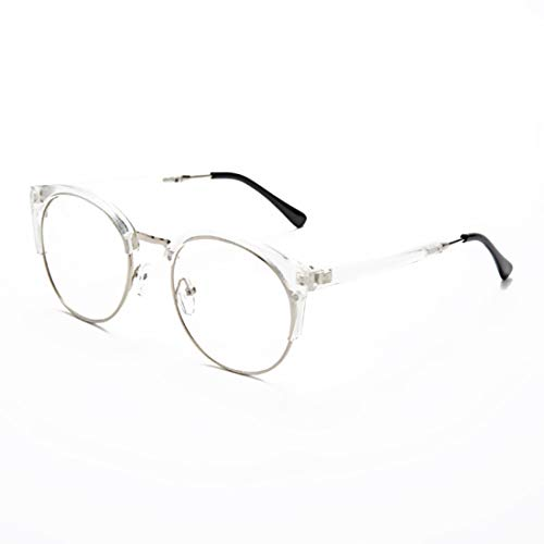 Sakuldes Eyewear Brillengestell Brillengestell Brillenglas Unisex Unisex stilvolle Brillen ohne Rezept für Frauen (Color : Clear)