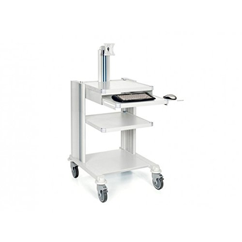 GiMa–Werkstattwagen Profi–mit Tastatur und Ständer Monitor–4Etagen
